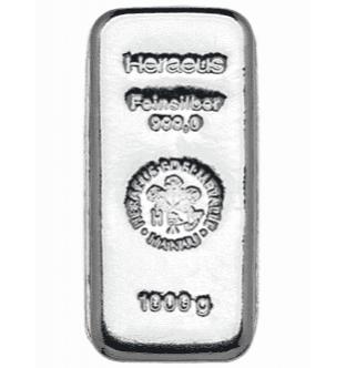 Stříbrné slitky - 1000 g